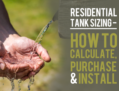 Residential Tank Sizing – How To Calculate, Purchase & Install