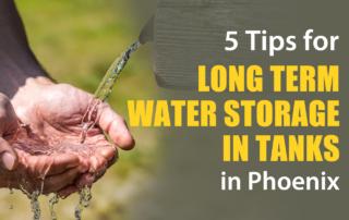 Phoenix long term water storage in tanks