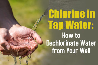 Tips from a top residential well water testing company to remove chlorine in your tap water