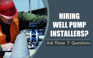 Questions for Well Pump Installers