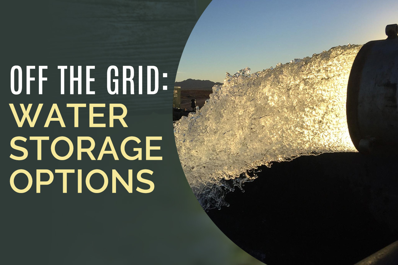 Off The Grid Water Storage