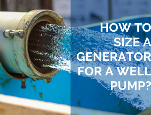 How to Size a Generator for a Well Pump