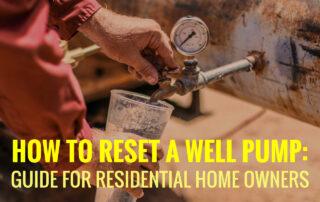 Resetting Well Pump